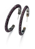 Purple Mesh Loop Earrings By Fiorelli Jewellery