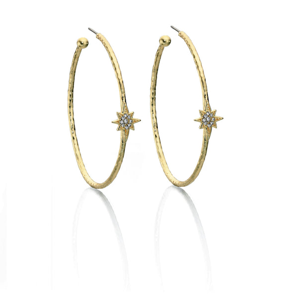 Fiorelli Large Loop Earrings With Star Design