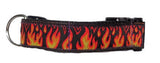 Flames Dog Collar