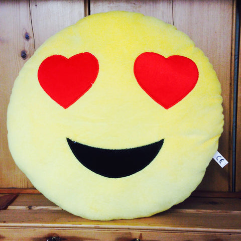 Heart Eyes Emoji Cushion