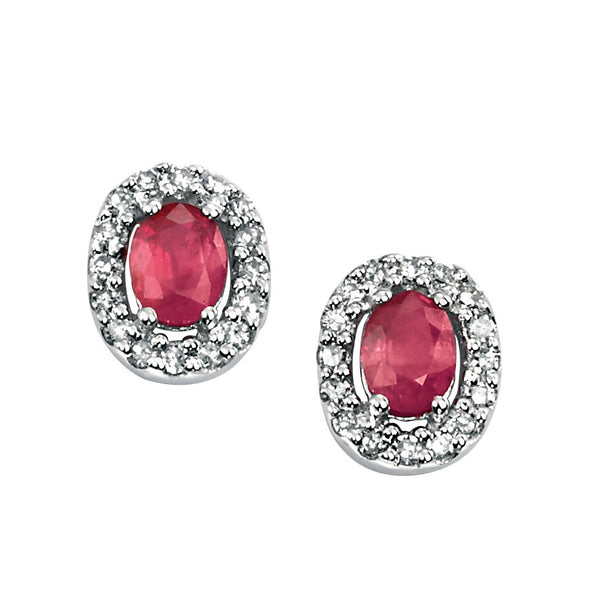 Gold Diamond & Ruby Earrings from Carina Jewellery