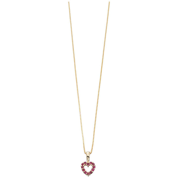 Gold Ruby Heart Necklace from Carina Jewellery
