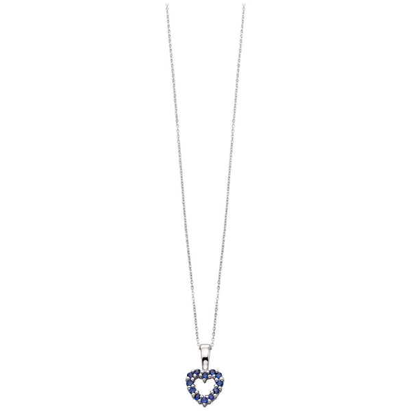 Gold Sapphire Heart Necklace from Carina Jewellery