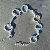 Carina Silver Snaffle Bracelet With Adjustable Fit JB06
