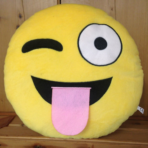 Crazy Tongue Emoji Cushion