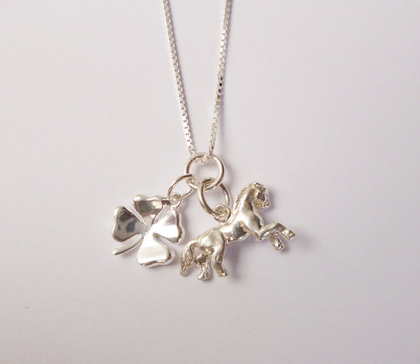 Carina Silver Good Luck Horse Charm Necklace