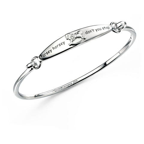 Carina Silver Horsey Horsey Childs  Bangle
