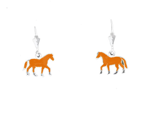 Carina Silver Hand Enamelled Pony Earrings JE25BAY