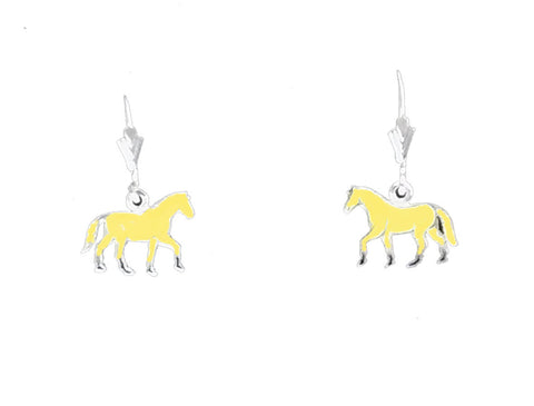 Carina Silver Hand Enamelled Palomino Pony Earrings JE25PALO