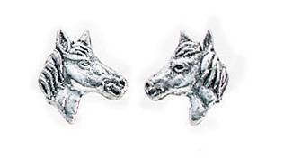 Carina Silver Horse or Pony Head Earrings