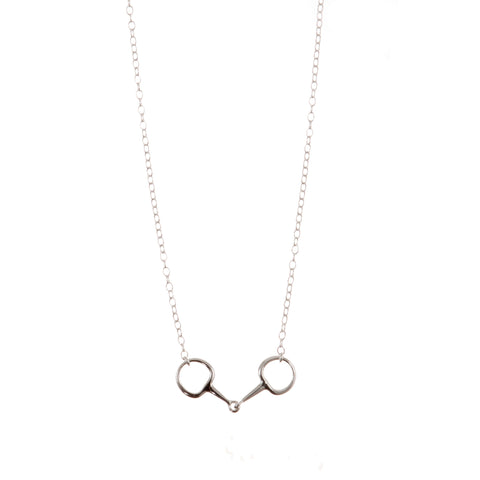 Carina Silver Single Snaffle Necklace JN7207