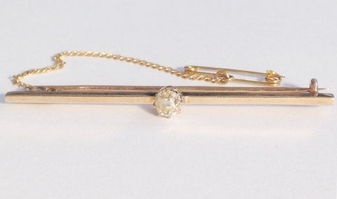 Antique 9ct Gold & Diamond Stockpin