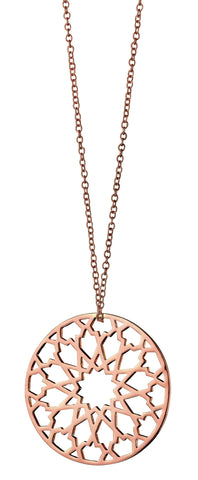 Rose Gold Toned Pendant Necklace By Fiorelli