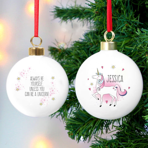 personalised unicorn bauble - Unicorn Christmas Decorations