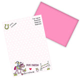 Bang on the Door Pony Girl Stationery Set