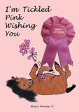 Hairy Ponies Tickled Pink Happy Birthday Card Bay HPC05BY