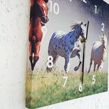 Galloping Horse Clock 3 Piece Set