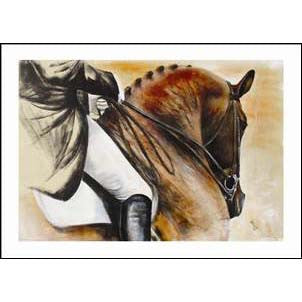 Diane Hennchen Bay Dressage Greetings Card