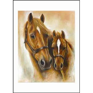 Diane Hennchen Mare & Foal Greetings Card