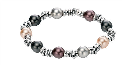 Fiorelli Silver Bracelet With Crystal Pearls