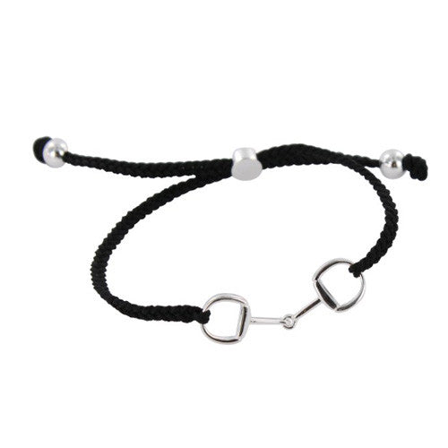 Silver Snaffle Friendship Bracelet supporting the Gambia Horse & Donkey Trust JB09