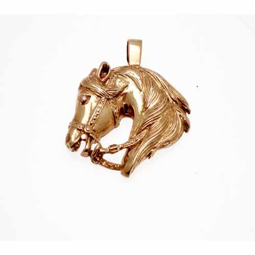 Gold Horse Head Pendant
