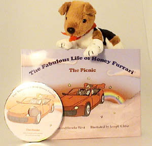 Jack Russell Soft Toy Book & Audio CD HONEY01