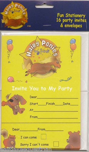 Hairy Ponies & Friends Party Invites HPI01