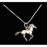 Carina Silver Galloping Horse Necklace J057