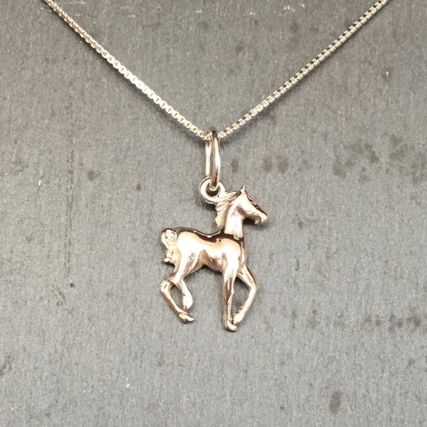 Carina Silver Foal Necklace J053