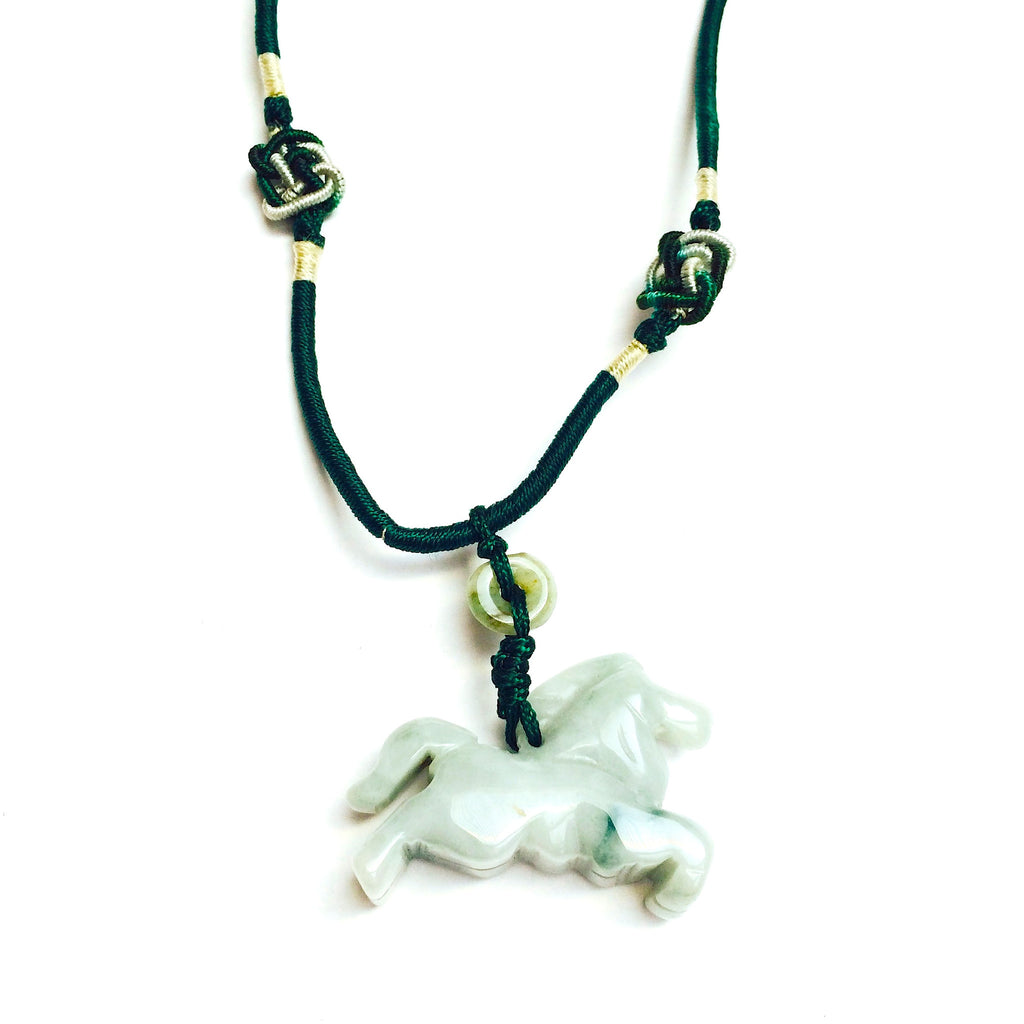 Jade horse pendant necklace your gift horse aloadofball Images