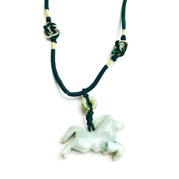 Jade Horse Pendant Necklace JN90