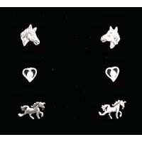 Carina Silver Set Of Three Pony Friends JE07