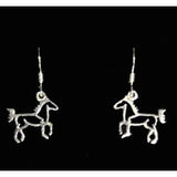 Carina Silver Linear Horse Earrings JE18