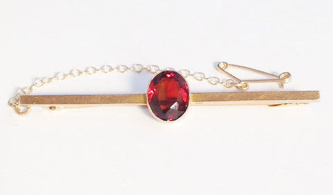 Antique Garnet & 9 ct Gold Stockpin