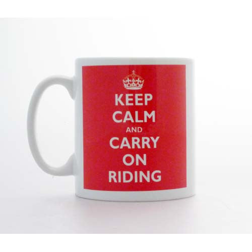 Keep Calm & Carry On Riding Mug KCMUG011