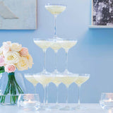LSA Monogrammed Champagne Tower Set of 10