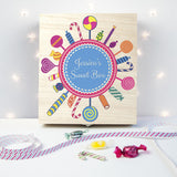 Personalised Lollipop Wreath Sweet Box