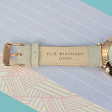 Elie Beaumont Personalised Leather Watch in Stone