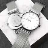 Mr Beaumont Personalised Men's Metallic Silver Watch