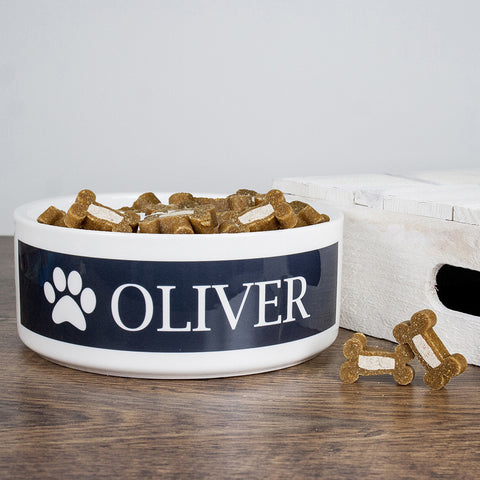 Personalised Dog Paw Food Bowl
