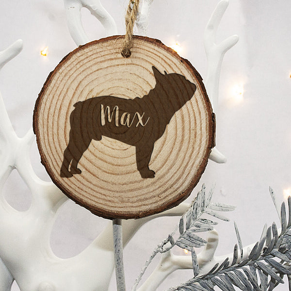 Personalised Engraved Dog Silhouette Christmas Tree Decoration