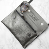 Personalised Metallic Leather Clutch Bag