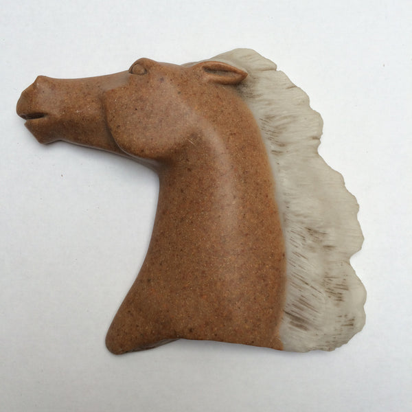 Stone Horse Head Ornament