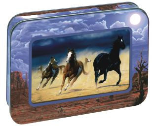Pack 12 noteables in photo frame tin Wild horses TFN9511