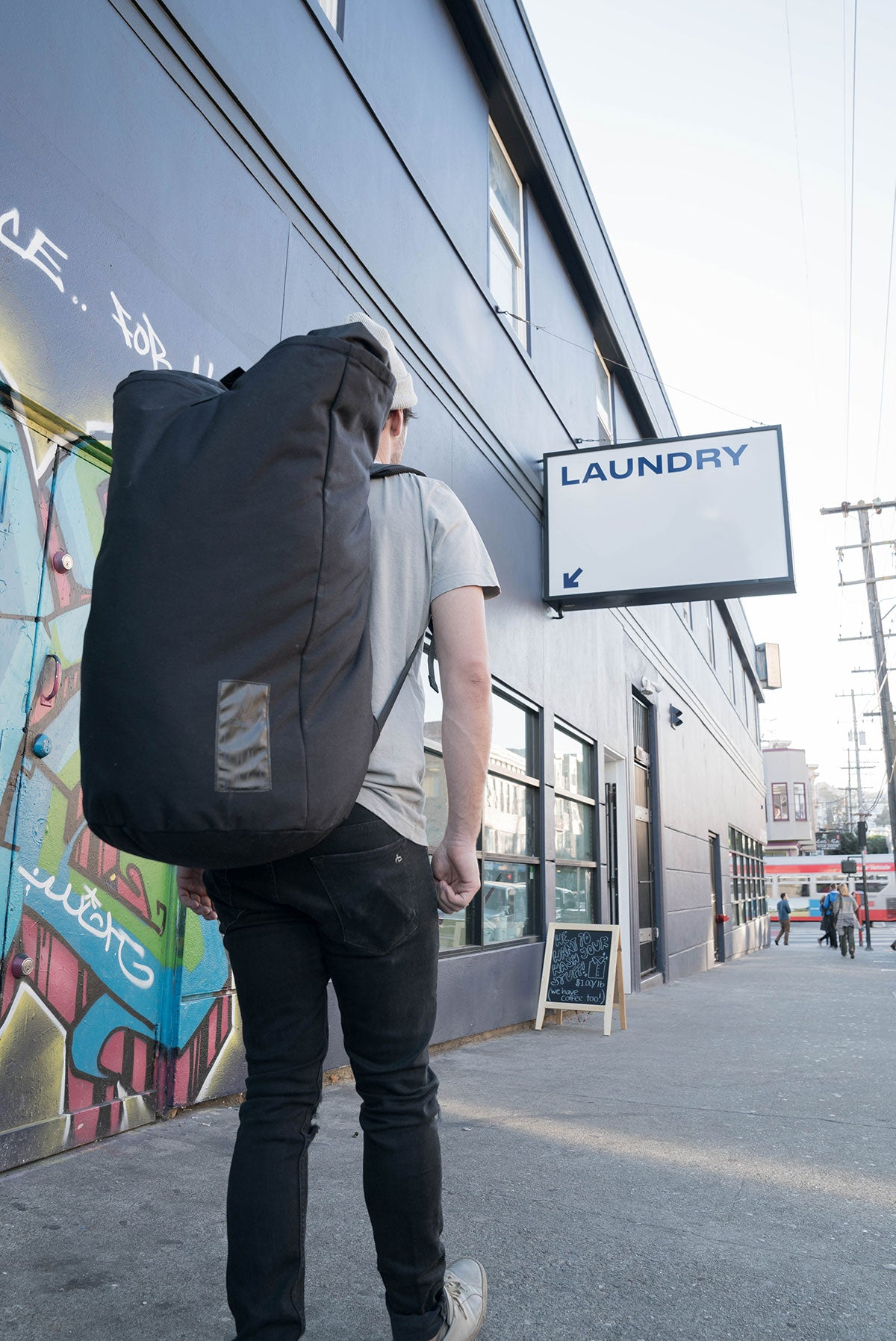 The ChipmunkBag | 115 Liter Laundry Backpack Laundry Backpack - The World's Best Laundry Bag