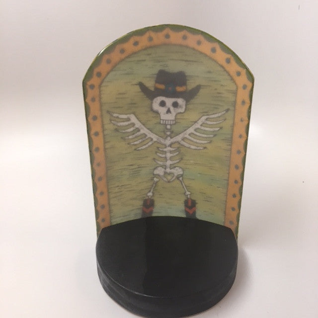 Skelly Cowboy Candle Screen