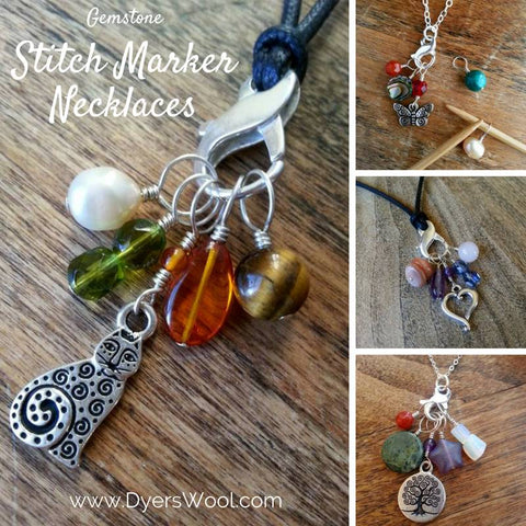 Stitch marker necklaces