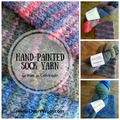 Hand-painted sock yarn