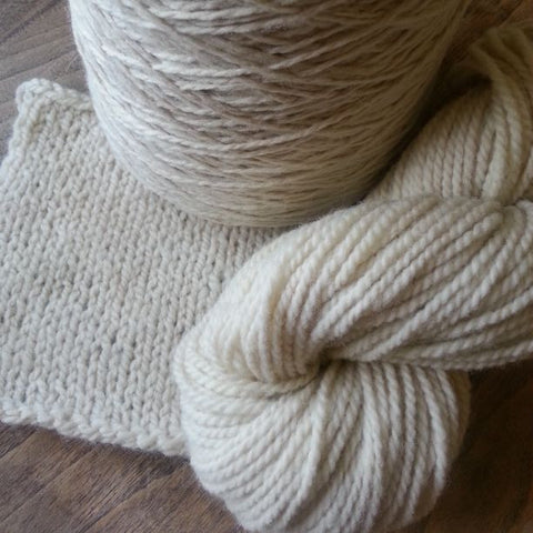 Ivory Colorado-Grown Bulky Wool Yarn, 3.5 oz skein
